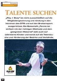 TALENTE SUCHEN - gotennis - Erfolgreicher Tennis spielen