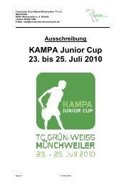 KAMPA Junior Cup 23. bis 25. Juli 2010 - gotennis - Erfolgreicher ...