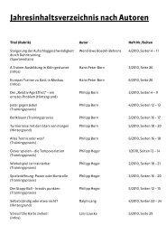 Jahresinhaltsverzeichnis nach Autoren - gotennis - Erfolgreicher ...