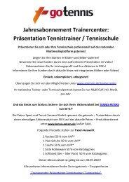 Jahresabonnement Trainercenter - gotennis - Erfolgreicher Tennis ...