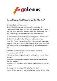 """Expose Pilotprojekt """"Bildreporter Vereine / Turniere"""""""