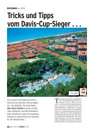 Tricks und Tipps vom Davis-Cup-Sieger . . . - gotennis - Erfolgreicher ...
