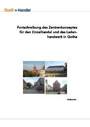 Fortschreibung Zentrenkonzept für den Einzelhandel 2011 - Gotha