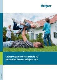 Gothaer Allgemeine 2012 Umschlag - Gothaer Versicherungen
