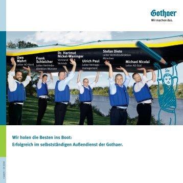 Wir holen die Besten ins Boot - Gothaer Versicherungen