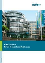 00 Konzern D Umschlag A4 2012 - Gothaer Versicherungen