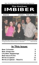 issue 11 - january / february 2005 - The Gotham Imbiber