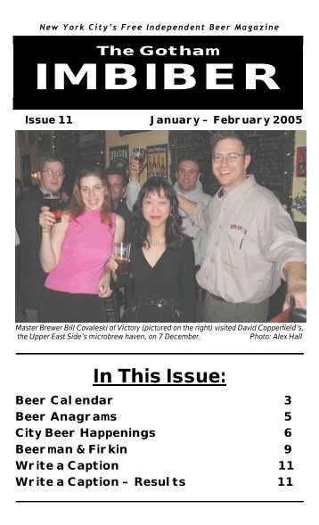 issue 11 - january / february 2005 - The Gotham Imbiber