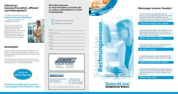 Selectline Rechnungswesen - BSC Computer Systeme Gmbh