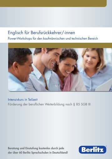 Englisch für Berufsrückkehrer/-innen - Berlitz Deutschland GmbH
