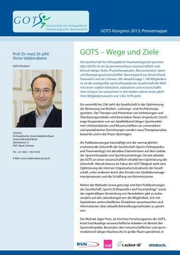 GOTS-Pressemappe Kongress 2013