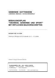 Textteil Bebauungsplan Viehweid, Gewerbe und Sport - Gottenheim