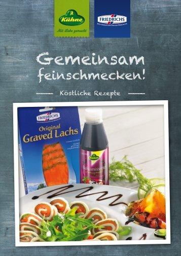 Rezeptheft - Gemeinsam feinschmecken - Gottfried Friedrichs