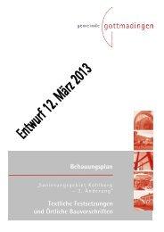 Textliche Festsetzungen und örtliche Bauvorschriften - Gottmadingen
