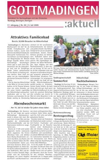 Gottmadingen Aktuell, Nr. 28 vom 9. Juli 2009