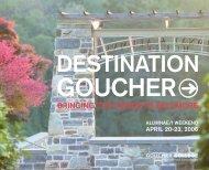 DESTINATION - Goucher College