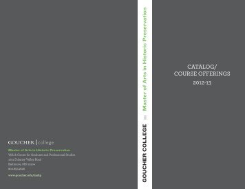 Course Catalogue 2012-13 - Goucher College