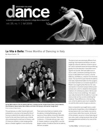 Dance Newsletter - Goucher College