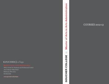 COURSES 2012-13 - Goucher College