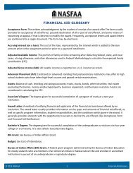 NASFAA Financial Aid Glossary - National Association of Student ...