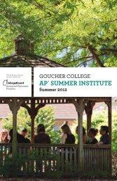 AP® Summer InStItute - Goucher College