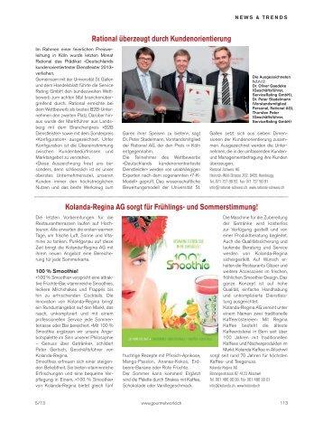 Neuheiten, Innovationen und Trends aus der Welt von Gastronomie ...