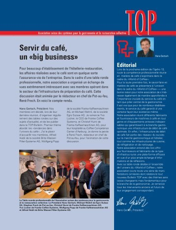 Servir du café, un «big business»