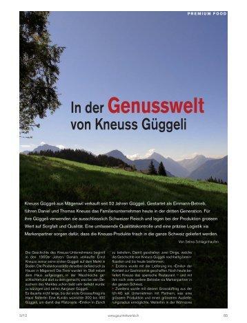 In der Genusswelt von Kneuss Güggeli