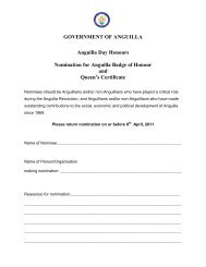 GOVERNMENT OF ANGUILLA Anguilla Day Honours Nomination ...