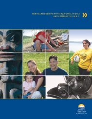 new relationships with aboriginal people and communities in bc