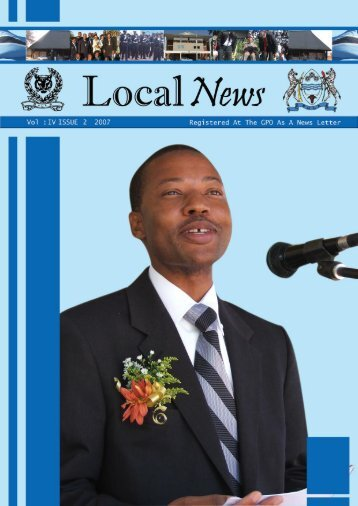 Newsletter Vol II Issue 1 2007 - Government of Botswana