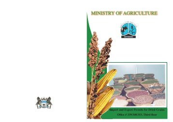 Import and Export Permits for Dried Grains