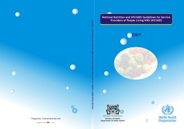 National Nutrition and HIV/AIDS Guidelines for Service Providers of ...