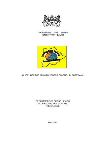 Guidelines for Malaria Vector Control - Government of Botswana