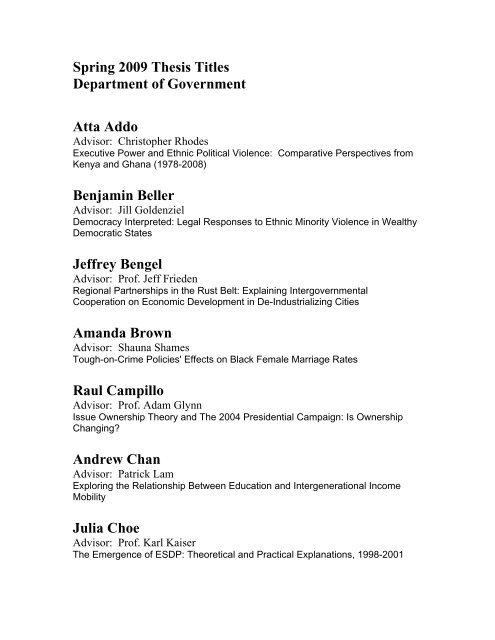 Politics thesis titles top creative writing writer services uk