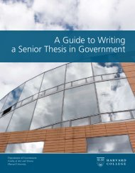 A Guide to Writing a Senior Thesis in Government - Department of ...