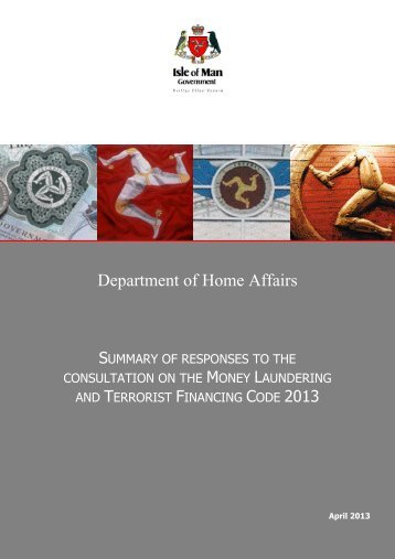 Consultation on draft Money Laundering Codes and associated ...