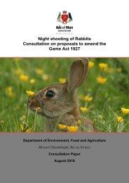 Night Shooting of Rabbits Consultation Document - Isle of Man ...