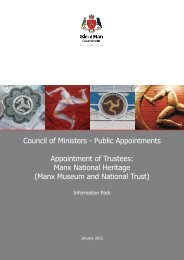 MNH Trustees information pack - Isle of Man Government