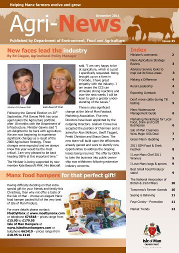 Agri News December 2011 - Isle of Man Government