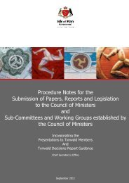 Procedure Notes for Council of Ministers Papers - Isle of Man ...