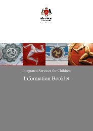 Integrated Services for Children Information Booklet - Isle of Man ...