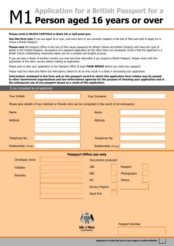 Form An Application For Naturalisation As A British Citizen