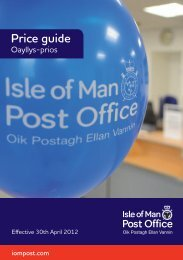 Prices (Exc Parcels) with effect from the 30th April 2012 - Isle of Man ...