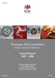 Annual Report 2007 - Isle of Man Government