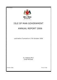 ISLE OF MAN GOVERNMENT ANNUAL REPORT 2006