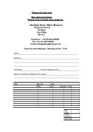 Publications Print Order Form - Isle of Man Government
