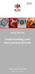 Understanding your state pension forecast - Isle of Man Government