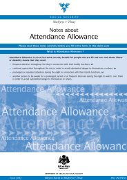 Notes about Attendance Allowance - Isle of Man Government