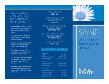 SANE: Sexual Assault Nurse Examiner Program
